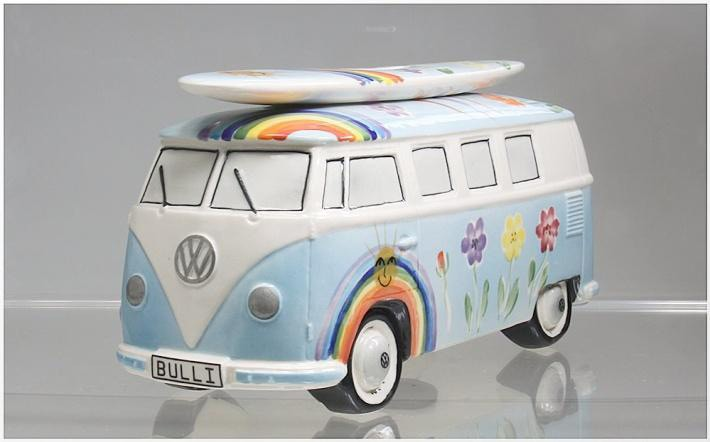 vw bus t1 surfbulli spardose hippie hellblau ebay. Black Bedroom Furniture Sets. Home Design Ideas